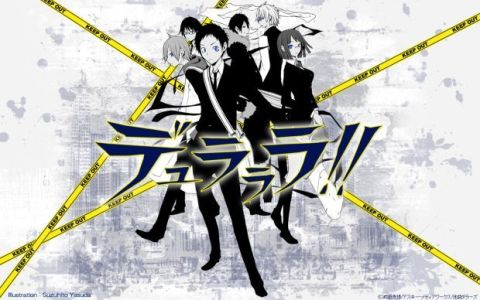 The Durarara!! cast and style.