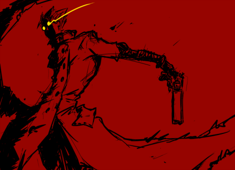 Vash the Stampede, done in 3 colors.