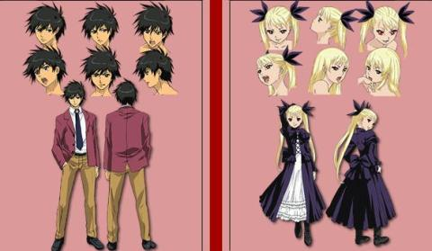 Danec in the Vampire Bund's Akira and Mina