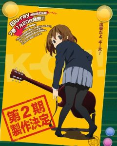 I couldn't bear to cut this image to just the season 2 announcement part, since it would only show Yui from the waist down.