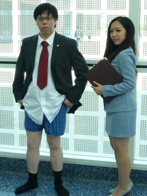Thanks to Miho, who wrote her ass off getting the tie and boxer shorts done.
